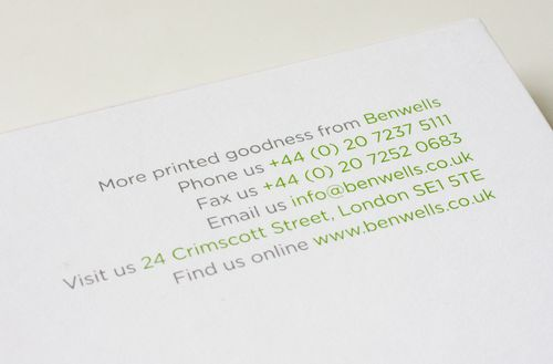Benwells-address